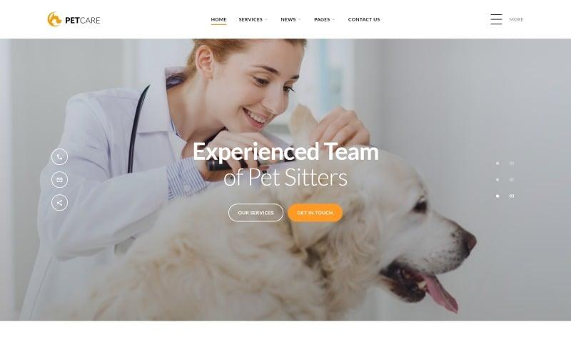 Pet Care - Vet Pet Care Clean HTML Website Template
