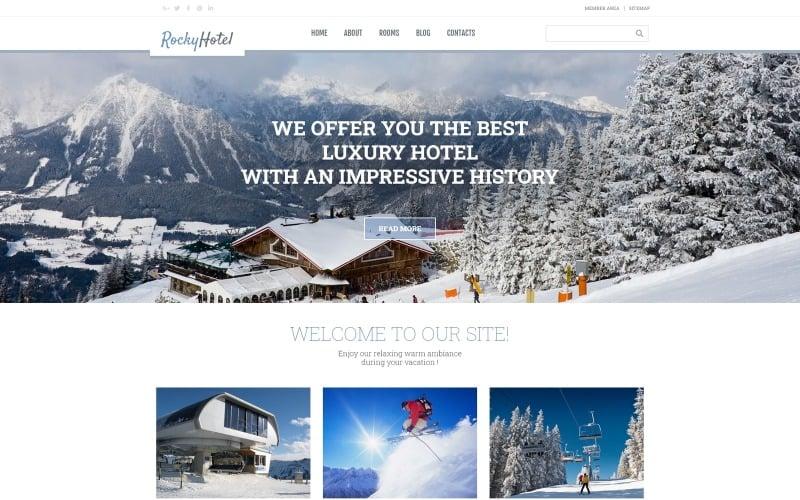 RockyHotel - Tema Elementor moderno multipropósito para hotel en WordPress