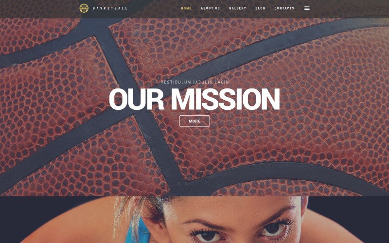 WordPress тема баскетбольного джема