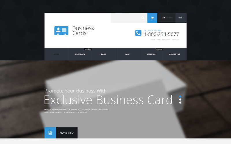 Business Cards Store Shopify Theme