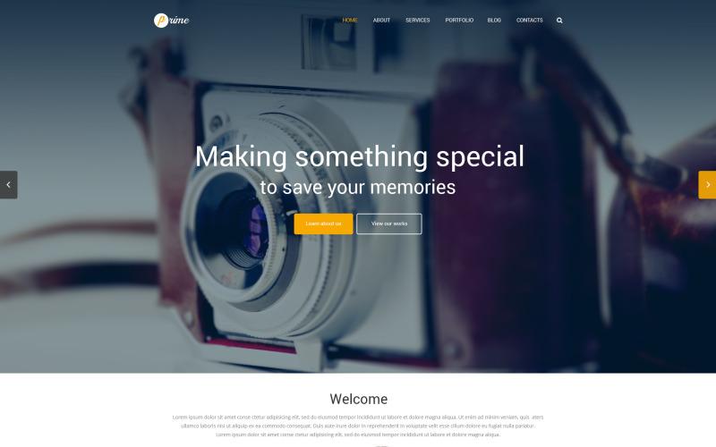 Fotografportfölj Responsivt WordPress-tema
