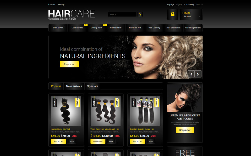 Hair Studio PrestaShop Theme
