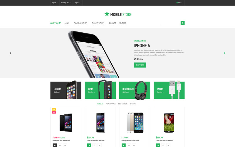 Motyw mobilnego sklepu PrestaShop