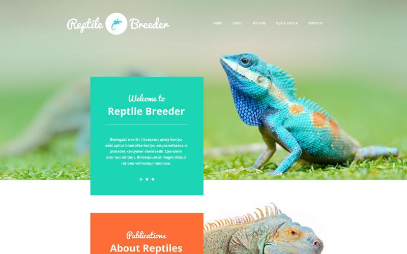 Reptile Breeder Website Template