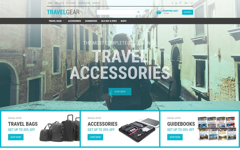 Šablona OpenCart obchodu Journey Essentials