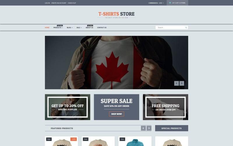 T-shirt Shop Responsive Shopify Theme