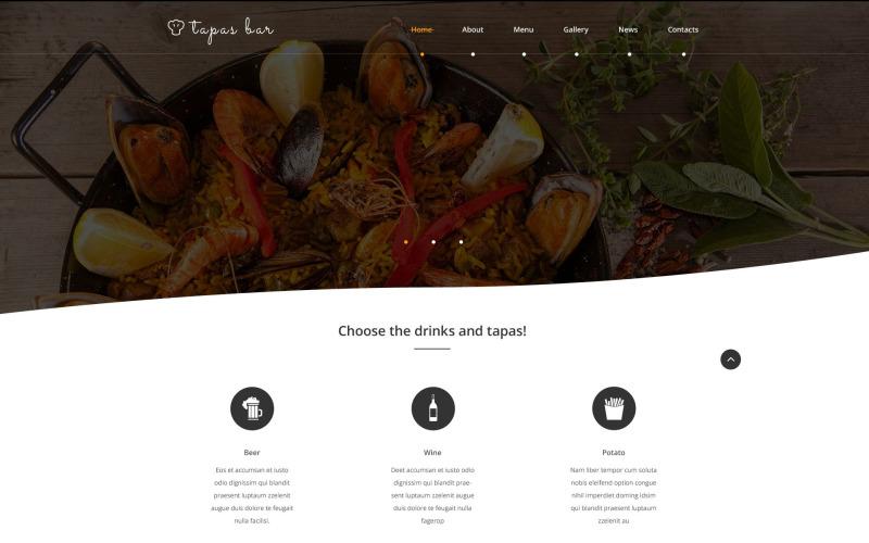 Tapas Bar Website Template