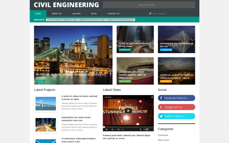Тема WordPress для гражданского строительства