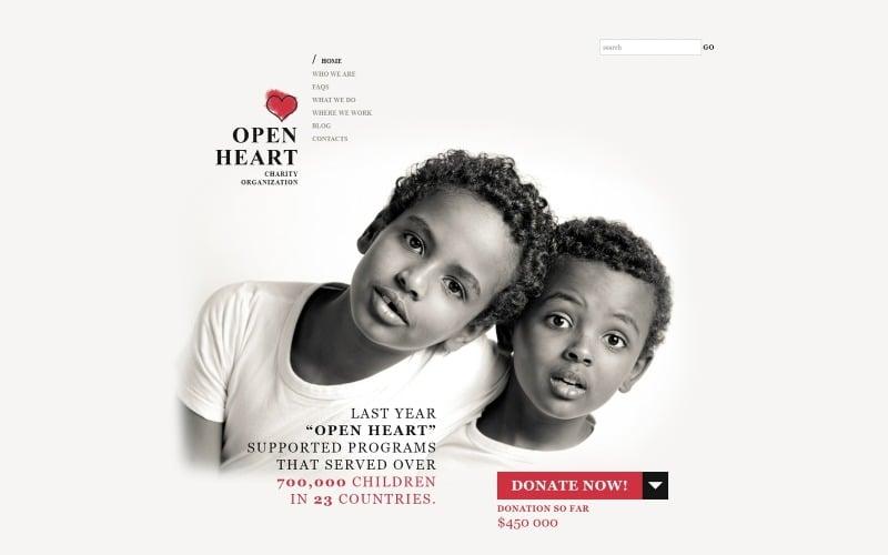 A jótékonyság világa WordPress téma