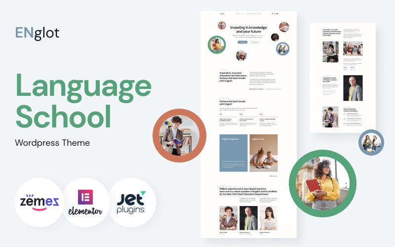 Englot - Téma čistého jazykového kurzu WordPress