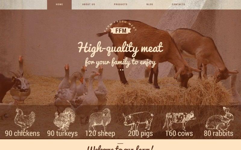 Farm Fresh Meats WordPress Theme