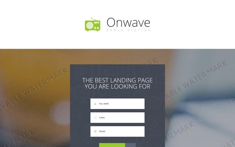 Radio Website Responsive Landing Page Template