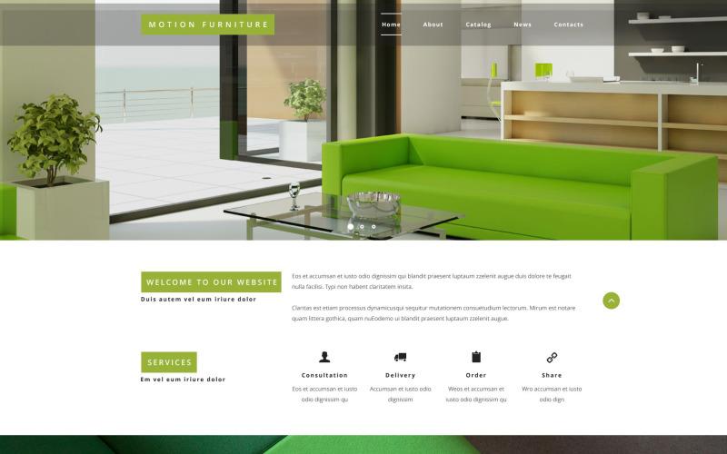 Šablona webových stránek se sklopným nábytkem