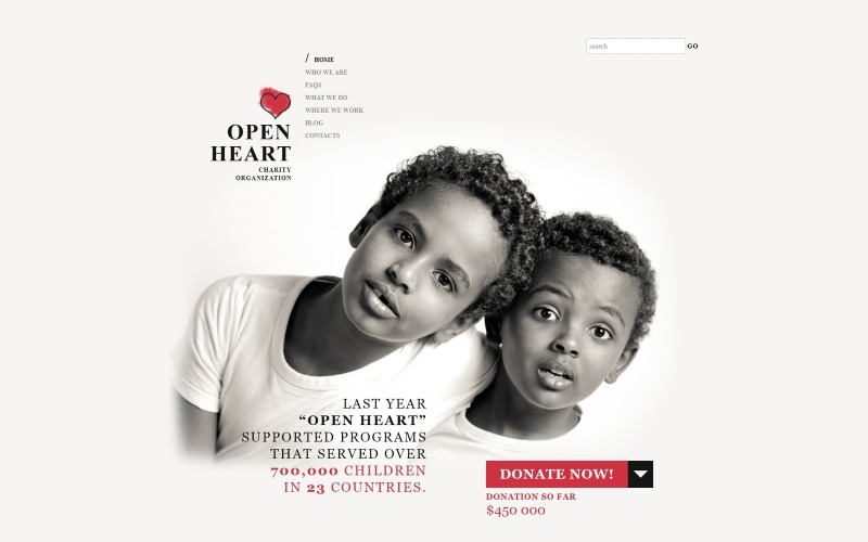 Téma World of Charity WordPress