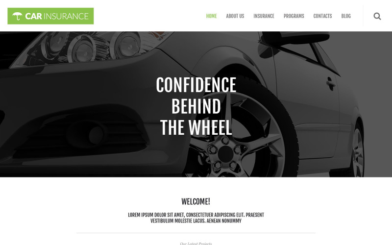 Адаптивная тема WordPress для автострахования