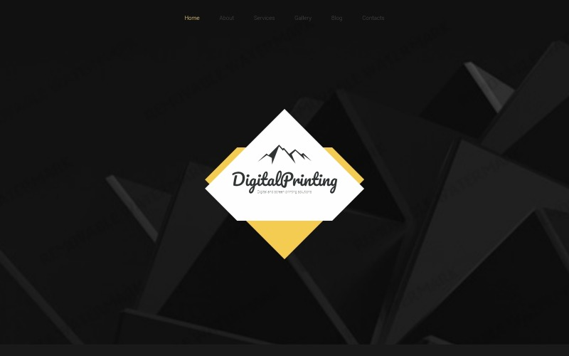 Digital Printing Website Template