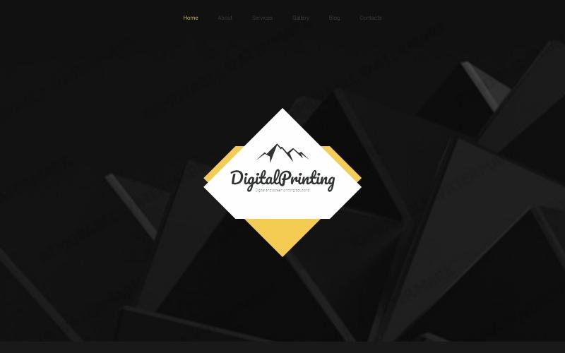 Dijital Baskı Web Sitesi Şablonu