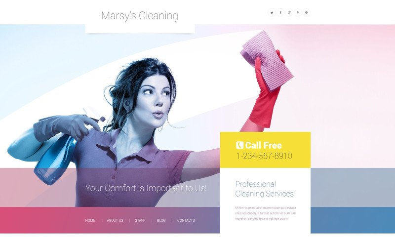 Marsys Cleaning WordPress Theme