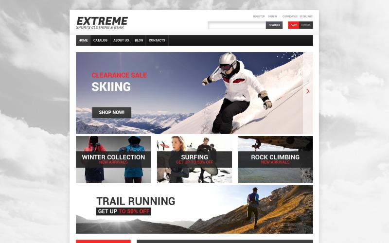 Modelo VirtueMart para esportes radicais