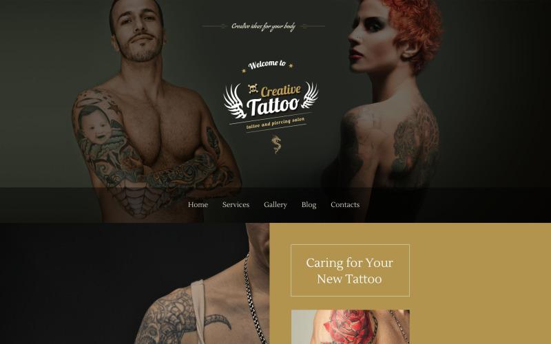 Motyw Creative Tattoo WordPress
