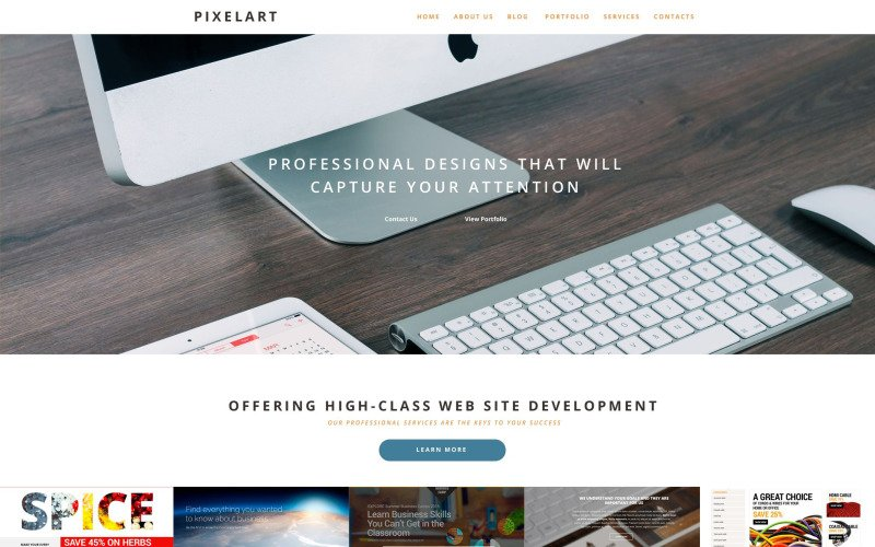 PixelArt WordPress Theme