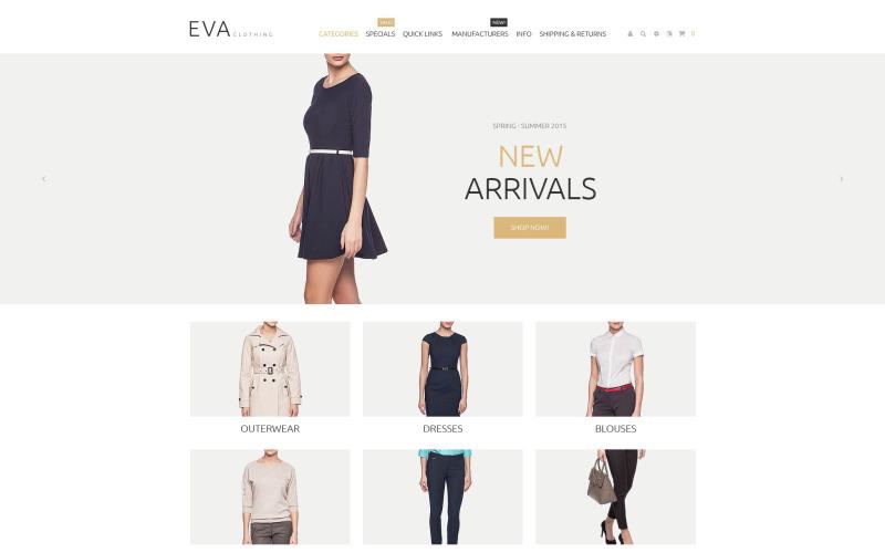 Šablona ZenCart reagující na oděvy