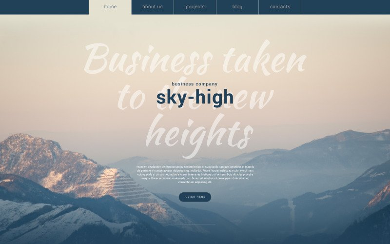 Sky-High WordPress Theme