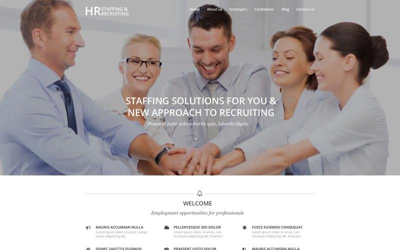 Tema de WordPress de reclutamiento de recursos humanos
