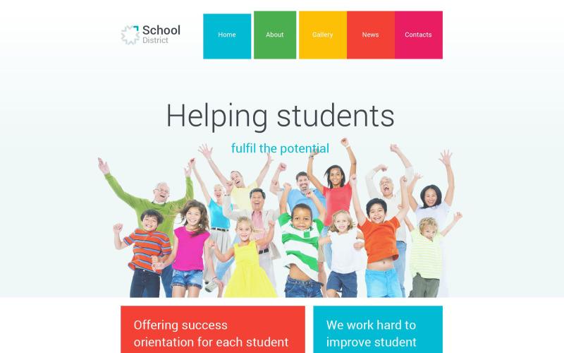 Тема WordPress для школьного округа