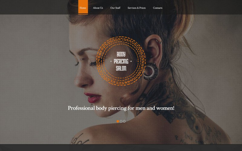 Body Piercing Salon Website Template