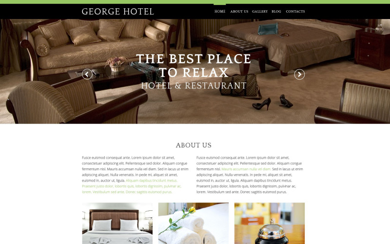 Hotels Drupal Template