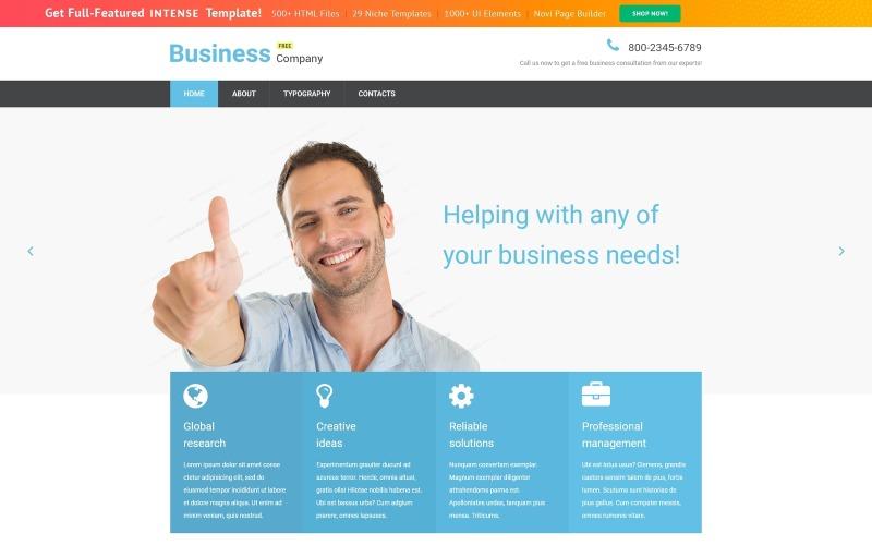 Modello di sito Web reattivo aziendale gratuito