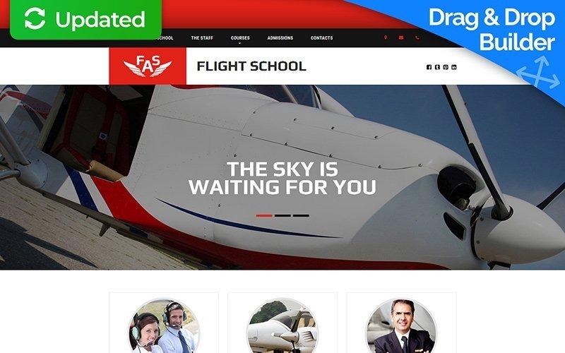 Šablona letecké školy Moto CMS 3