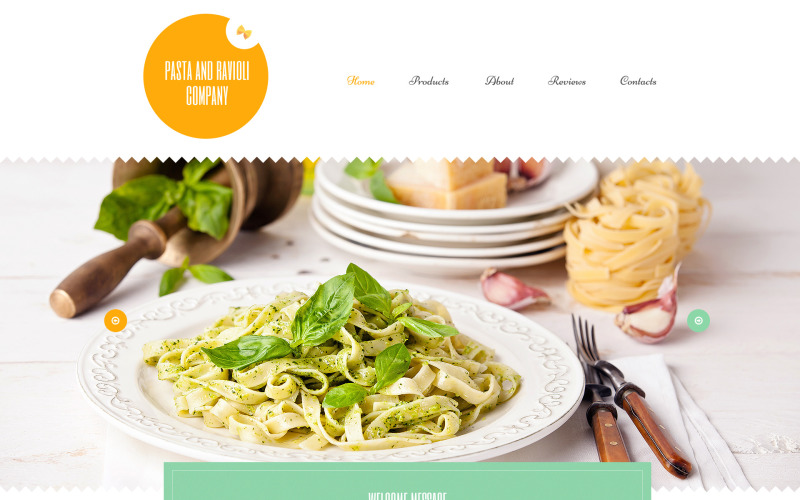 Šablona WordPress společnosti Pasta and Ravioli Company