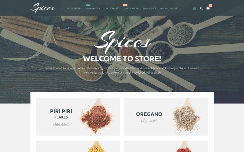 Spice Shop PrestaShop-thema