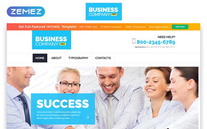 Бесплатный адаптивный шаблон для бизнеса Шаблон веб-сайта