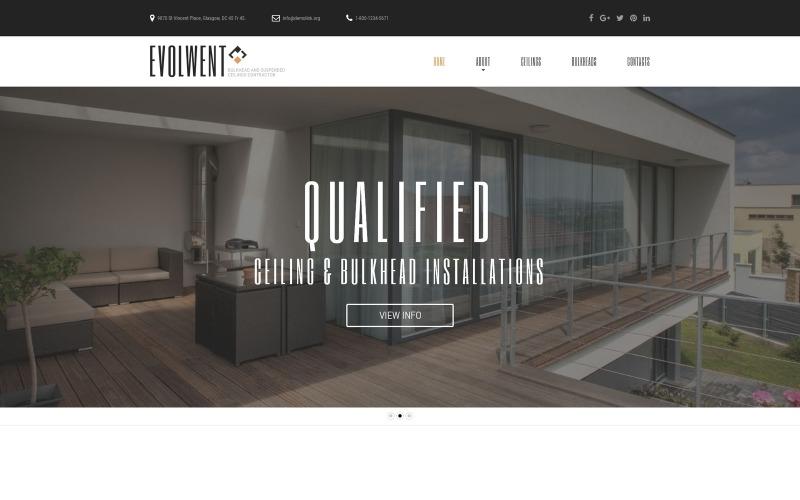 Evolwent - Belsőépítészetre érzékeny, modern HTML webhelysablon