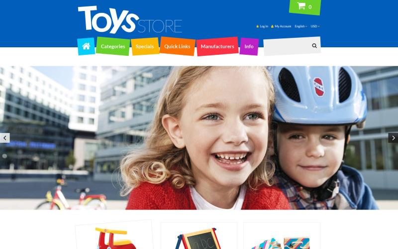 Hračky Store ZenCart šablona