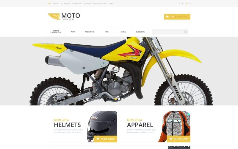 Moto Online Store OsCommerce Template