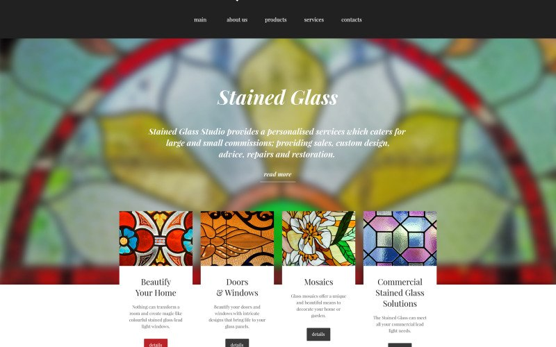 Stained Glass Studio Website Template