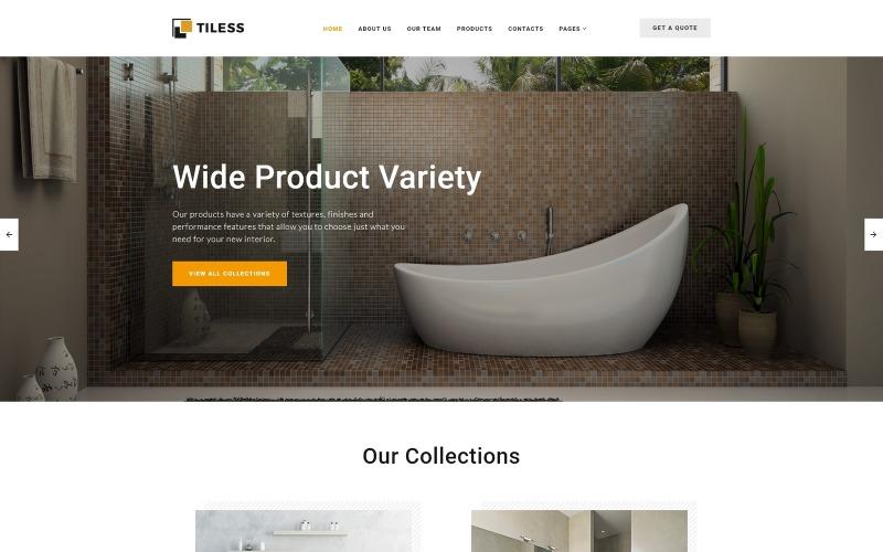 Tiless - Home Decor Vícestránková kreativní HTML webová šablona