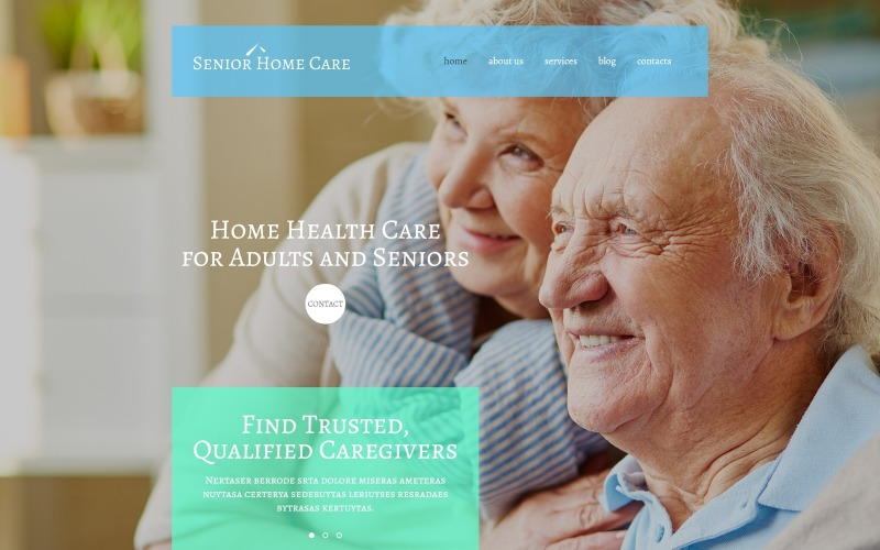 WordPress тема для дому для старших людей