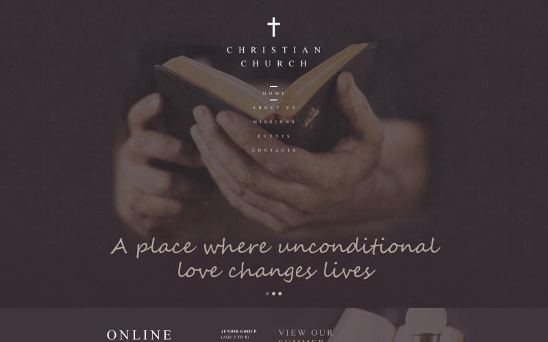 Křesťanská responzivní webová šablona