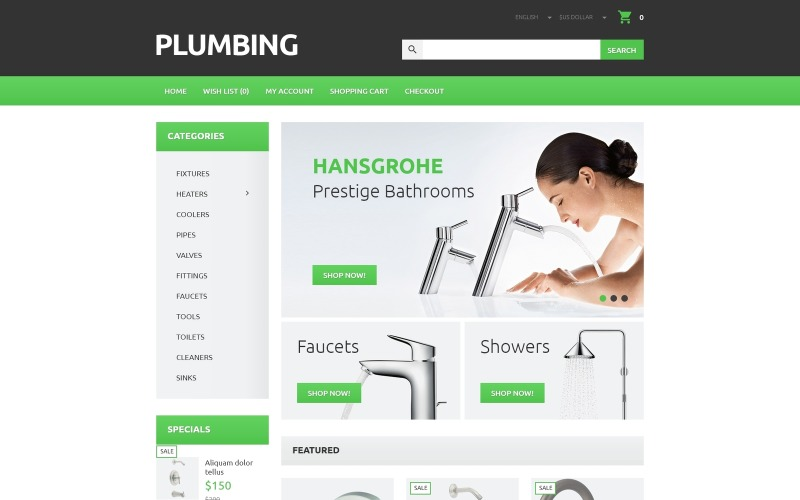 Plumbers Tool Case OpenCart Template