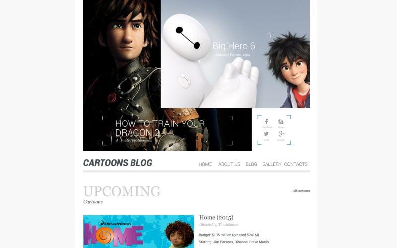 Cartoons Blog WordPress Theme