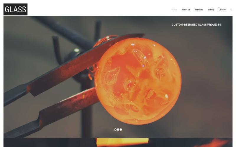 Glass Website Template