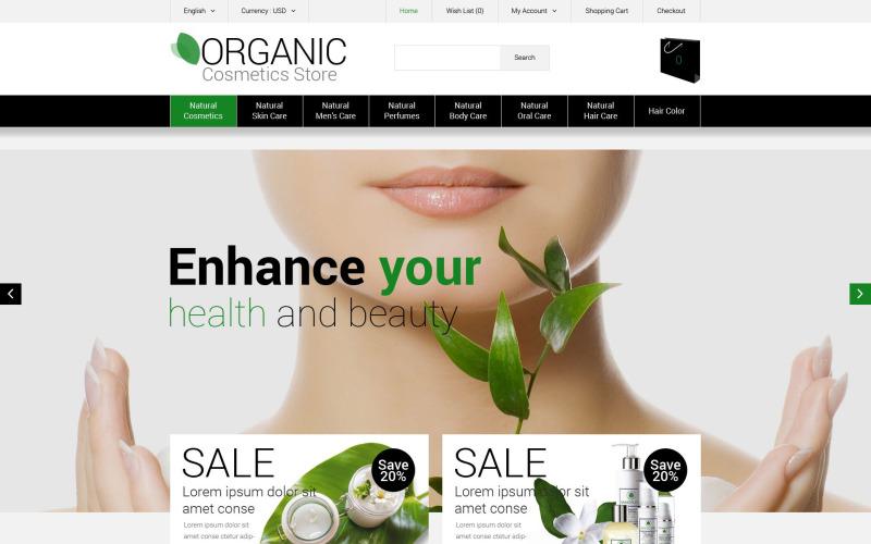 Organische cosmetica winkel OpenCart-sjabloon