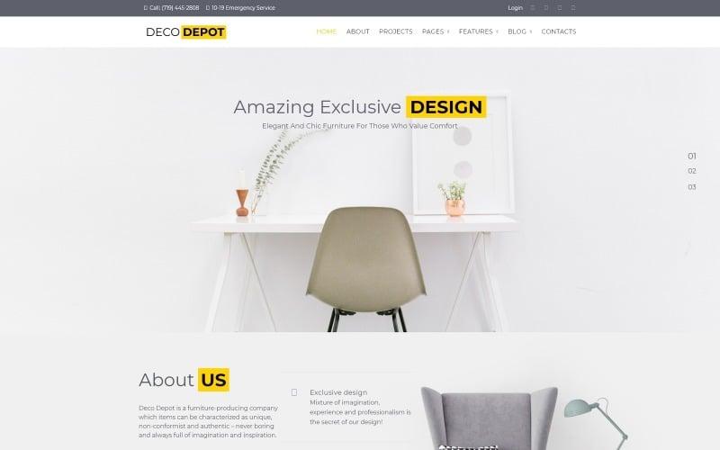 Тема WordPress для мебельной компании