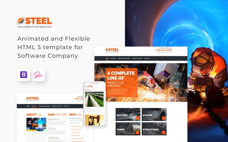 Acél - fém gyártási ipar webhelysablon