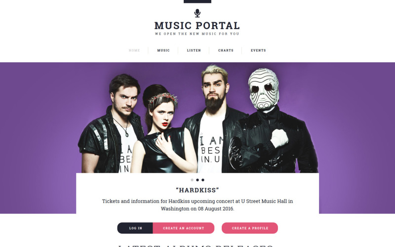 Music Portal Responsive Website Template